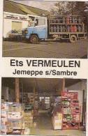 JEMEPPE SUR SAMBRE-CALENDRIER 1992-ETS VERMEULEN-ROUTE D'EGHEZEE-jupiler-coca-cola-produits Laitiers-gaz - Calendari
