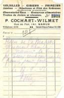 Namur - 1946 - P. Cochart-Wimet - Volailles-gibiers-primeurs - Alimentaire