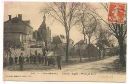 46:CRESSENSAC-l´Ecole,l´E Glise  Et Route De Brive . - France