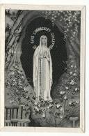 IMAGE PIEUSE CARTE POSTALE -TISSEE SOIE  - IMMACULEE CONCEPTION 8 X 11,5 CM - Images Religieuses