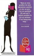 - MARQUE-PAGE - LE LIVRE DE POCHE  - 60 ANS - - Marque-Pages