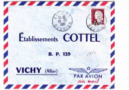 REUNION (CFA)  - 1961 - ENVELOPPE Par AVION De CILAOS - DECARIS - Reunion Island (1852-1975)
