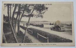 CARNAC PLAGE - CPA 56 - La Plage à Travers Les Sapins. Belle Voiture. - Carnac