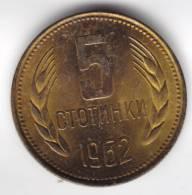@Y@   Bulgarije   5 1962     UNC   (C440) - Bulgarie