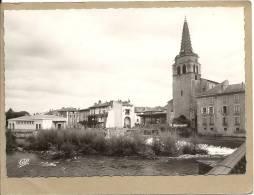09  SAINT  GIRONS    LE  SALAT   ET  L  EGLISE - Saint Girons