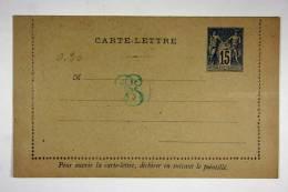 France Carte Lettre 129 X 80 Mm No Nr - Enteros Postales