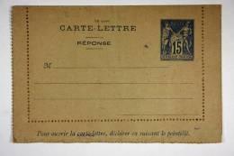 France Carte Lettre Avec Réponse 110 X 70 Mm 1894