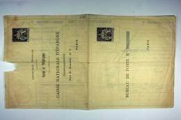 France Caisse D'Epargne Chaplain 30 C Noir – Remboursement Par Tubes. Non Expédié.