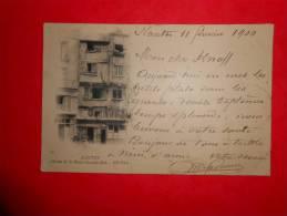 Carte De Nantes De 1900 Pour Le Luxembourg Tres Belle Avec 10c Sage - 1876-1898 Sage (Type II)