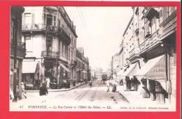 FRANCE PAS DE CALAIS  Cpa 62 Wimereux - L' Hôtel Des Bains Et La Rue Carno - Frankreich