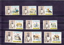 Fujeira, Definitive Issue Air Mail 1965,animals,duck.,birds,falcon Etc.. 9 V. Early Issue-scarce-SKRILL PAYMENT ONLY - Fujeira