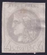 *PROMO* 4c Bordeaux Neuf (*) Aspect TB (Y&T N° 41B, Cote +++€) - 1870 Bordeaux Printing