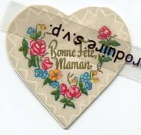 - Joli Coeur Ancien, Bonne Fête Maman, Poème à L´intérieur, Fleurs NOÉLLE à Marseille, Bon état, Scans. - Advertising