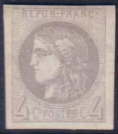*PROMO* SUPERBE 4c Bordeaux Neuf * Grandes Marges Signé ROUMET (Y&T N° 41B, Cote +++€) - 1870 Bordeaux Printing