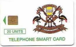 1 Télécarte à Puce OUGANDA 20 Units Gem Tirage 50000  (bon état) - Ouganda