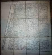 CARTE ENTOILEE Du PORTUGAL  -  Région AVEIRO VOUZA - Cartes Topographiques