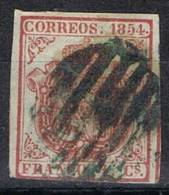 Sello 6 Cuartos 1854, Escudo Isabel II, Variedad, Num 33A º - 1850-68 Reino: Isabel II