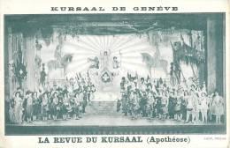 KURSAAL DE GENEVE LA REVUE APOTHEOSE THEATRE SPECTACLE SUISSE - Théâtre