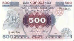 BILLETE DE UGANDA DE 500 SHILING DEL AÑO 1986 SIN CIRCULAR -UNCIRCULATED   (BANKNOTE) - Uganda