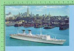Mediténarraneo /  Nord America Italian Line (T /n Michelangelo -Raffaello 46,000 T.) Post Card Carte Postale - Paquebote