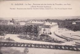 CPA 92 - SAINT-CLOUD - Le Parc - Panorama Pris Des Jardins Du Trocadéro, Vers Paris -L´école Normale Supérieure - Saint Cloud
