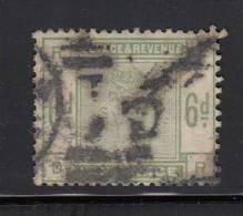 Great Britain Used Scott #105 6p Victoria, Green Position RD - Nibbed Perfs - 1840-1901 (Victoria)