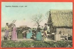 C1284 El Gato Baile.  Circulé De Buenos Aires Le 25.7.1910, Sous Enveloppe. - Argentinië