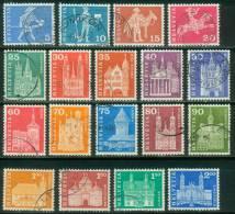 Schweiz  1960  Freimarken - Postgeschichte Und Baudenkmäler  (18 Gest. (used) Kpl. )  Mi: 696-13 (8,50 EUR) - Suisse