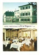 """Cp, Commerce, Hôtel Restaurant """"A La Vigne"""" - Buhl (68), Multi-Vues - Commerce"""