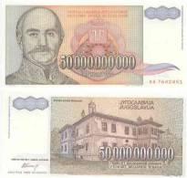 Narodna Banka 50 000 000 000 DINARA Pick 136 NEUF - Yugoslavia