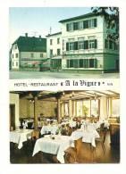 """Cp, Commerce, Hôtel Restaurant """"A La Vigne"""" - Buhl (68), Multi-Vues - Restaurantes"""