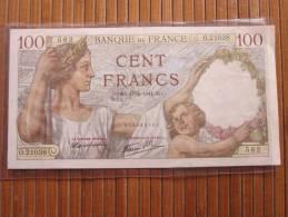 100 Francs Sully 100 Billet La Banque De France : S.O.17/4/1941 S.O. - 1871-1952 Anciens Francs Circulés Au XXème