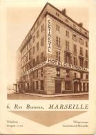 MARSEILLE HOTEL CONTINENTAL 6 RUE BEAUVAU DEPLIANT PUBLICITAIRE + PLAN 13 - Publicités