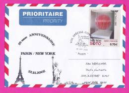 VOL SPÉCIAL CONCORDE Au Départ De  Roissy  PARIS  28 SEP. 2002 PRIORITAIRE - Poste Aérienne