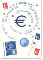 2002 L´Année Euro - Voeux De Le Poste 2002 - Documents De La Poste