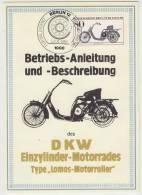DKW (´22) Type ´Lomos-Motorroller´  (FDC CARD 1983 - Berlin) - Motorcycle / Motorrad Deutschland - Motos