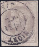 *PROMO* 4c Bordeaux Oblitéré C.a.D Aspect TB (Y&T N° 41B, Cote 350€) - 1870 Emissione Di Bordeaux