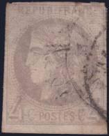 *PROMO* 4c Bordeaux Oblitéré C.a.D Aspect TB (Y&T N° 41B, Cote 350€) - 1870 Bordeaux Printing