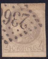 *PROMO* 4c Bordeaux Bord De Feuille Signé CALVES (Y&T N° 41B, Cote 325€) - 1870 Emissione Di Bordeaux