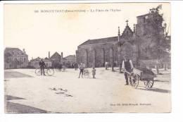 MONCOUTANT (Deux-Sèvres)  --  La Place De L'Eglise - Moncoutant