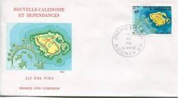 Nouvelle Calédonie    FDC Premier Jour 12   Janv.80    L'Il Des Pins - Nueva Caledonia