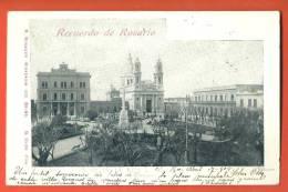 C1278 Buenos Aires Recuerdo De Rosario. Plaza 25 De Mayo.Précurseur. Cachet Santa-Fe Vers La Suisse Suiza.Risauer 522 - Argentinië