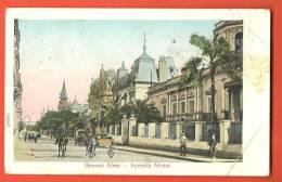 C1287 Buenos Aires, Avenida Alvear,Attelage. Circulé En 1913 (?). Pli Angle Inférieur Droit. - Argentinië