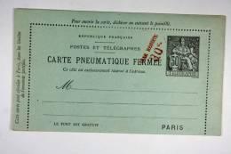 """France 50c Noir Date 130 Surchargé """"Taxe Réduite 30c., Sans 3 Lignes Annulées 50 C - Biglietto Postale"""