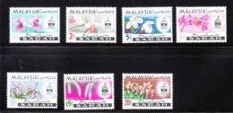 Malaysia Sabah 1965 Flowers Orchid Definitive MNH - Malesia (1964-...)