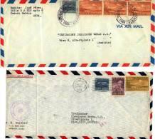 2 LETTRES DE  LA HAVANE - CUBA - AUTRICHE - AUSTRIA - 1953 - Cuba
