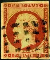 Frankreich Mi.N°17, Yvert N°18 Gestempelt, Napoléon III. Ohne Lorbeerkranz, Inschrift: EMPIRE FRANC Louis Napoleon - 1853-1860 Napoleon III