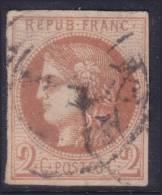 *PROMO* 2c Bordeaux Brun Rouge Clair Aspect TB  (Y&T N° 42B , Cote +325€) - 1870 Emission De Bordeaux