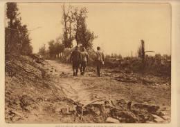 Planche Du Service Photographique Armée Belge Guerre 14-18 WW1 Sur La Route De Caeskerke à Dixmude - Books, Magazines  & Catalogs