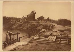 planche du service photographique arm�e belge guerre 14-18 WW1 pont de jonction anglo belge